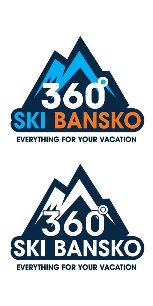 360° Bansko logo design colors